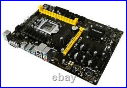Biostar TB250-BTC PRO Motherboard CPU i3 i5 i7 LGA1151 Intel DDR4 DVI 11xPCI-E