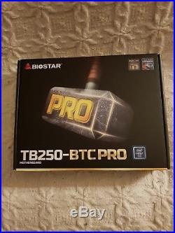 Biostar TB250 BTC Pro 12PCI-E 12GPU Ethereum Bitcoin Mining Rig Motherboard