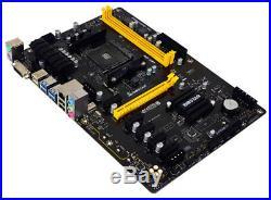Biostar TB350-BTC Motherboard CPU Ryzen CPU APU AM4 AMD DDR4 DVI 6x PCI-E Slots