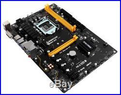 Brand new Biostar TB250-BTC Motherboard DDR4 1151 ATX 6 PCI-E Slots TB250 BTC
