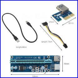 Card Mining Motherboard+6pcs PCI-E Extender Riser Card For BTC Eth Rig Ethereum