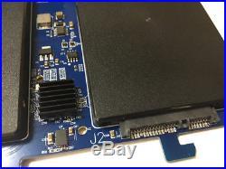 DEBROGLIE Dual SATA III to PCI-E X2 SSD Adapter RAID card for MAC PRO OSX 10.9
