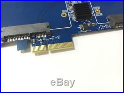 DEBROGLIE PCIe X2 to 2.5 SATA III SSD Dual Slot Adapter raid PCI Apple Mac Pro