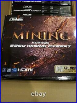 FAST SHIP New ASUS B250 Mining Expert, LGA 1151, 2 x DDR4, ATX 19 GPU