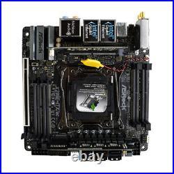 For ASROCK X299E-ITX/AC intel LGA 2066 Motherboard WIFI Mini-ITX M. 2 DDR4 Tested