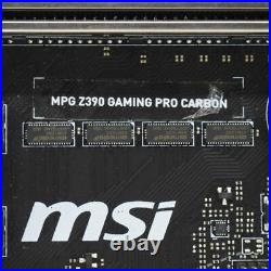 For MSI MPG Z390 GAMING PRO CARBON LGA 1151 DDR4 HDMI/ DP ATX Motherboard with IO