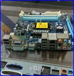 GigaByte Mainboard GA-H55-UD3H H55 LGA1156 2x PCIE x16 + IO Shield, Clean/Tested