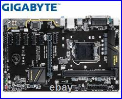 Gigabyte GA-H110-D3A ETH BTC LGA 1151 DDR4 6 GPU Motherboard Etherum Mining