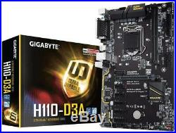 Gigabyte GA-H110-D3A Intel LGA1151 DDR4 USB 3.1 m. 2 GB LAN ATX Motherboard