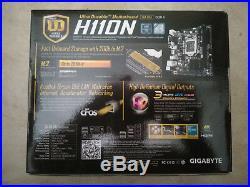 Gigabyte GA-H110N Motherboard CPU i3 i5 i7 LGA1151 Intel DDR4 DVI VGA HDMI HTPC