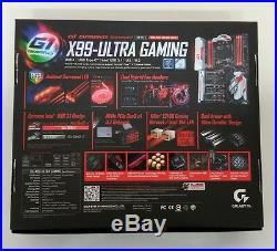 Gigabyte GA-X99-Ultra Gaming DDR4 Motherboard CPU i7 LGA2011-3 USB 3.0 10xSATA
