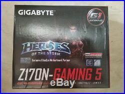 Gigabyte GA-Z170N-Gaming 5 Motherboard CPU i3 i5 i7 LGA1151 Intel DDR4 HDMI DVI