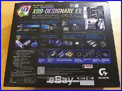 Gigabyte Motherboard GA-X99-Designare EX Core i7 X99 DDR4 SATA PCI Express