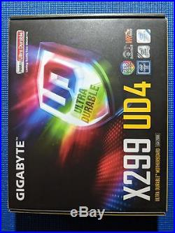 Gigabyte Motherboard X299 UD4 X series S2066 X299 DDR4 FAST SHIPPING