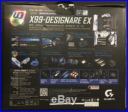Gigabyte X99 Designare Intel LGA 2011-3 Thunderbolt 3 Wifi Motherboard In box