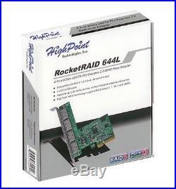 High Point HighPoint RocketRAID 644L External 4 SATA Port PCI-Express 2.0 x4