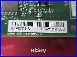 IBM 45W9122 LSI SAS9201-8i H3-25268-00D 6Gbps SAS/SATA PCI RAID Controller Card