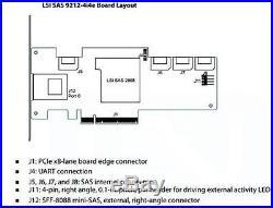 IBM 68Y7354 LSI SAS9212-4i4e PCI-E 6GB/s SAS SATA RAID HBA Full Profile
