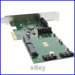 InLine PCI-Express Contrôleur 4x SATA jusqu'à 6Gb/s (SATA III), 2x mSATA, RAID