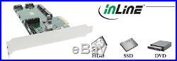InLine PCI-Express Controller 4x SATA bis zu 6Gb/s (SATA III), 2x mSATA, RAID