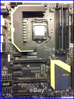 Intel Xeon i7 CPU MSi Z87 MPower motherboard 2x4 GB DDR4 8GB k Nr. 4790.3770