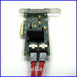 LSI SAS9211-8i 6Gb/s PCI-E FH RAID Controller with Dual 79576-3005 SATA cables