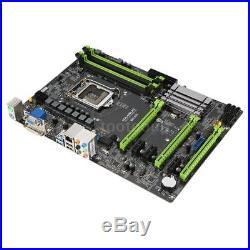 MAXSUN SATA3 Dual Channel DDR3 6PCI-E slots Mining Motherboard Fr Intel B85 K5J3
