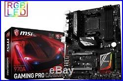 MSI ATX Motherboard Gaming AMD AM3 DDR3 USB CPU PCI SATA LAN Audio Dual Channel