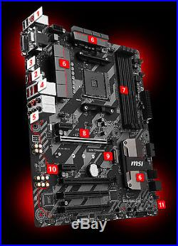 MSI B350 TOMAHAWK Motherboard B350 AM4 4DDR4 2PCI-Ex16 2PCI-Ex1 2PCI 1M. 2 4SATA3