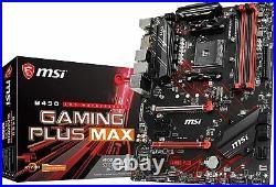MSI B450 GAMING PLUS MAX ATX Motherboard AMD MB4821 AM4 ATX DDR4 DIMM PC Item