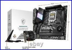MSI Creator TRX40 sTRX4 AMD PCI-E 4.0 Dual 10GBs LANs Wi-Fi 6 M. 24 Xpander Card
