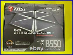 MSI MPG B550 GAMING EDGE WIFI AM4 AMD B550 PCIe 4.0 Wi-Fi 6 ATX Motherboard