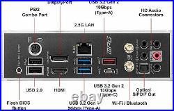 MSI MPG B550 Gaming Edge WiFi Gaming Motherboard AMD AM4, DDR4, PCIe 4.0, SATA