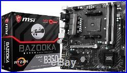 MSI Motherboard B350M BAZOOKA AMD B350 Chipset AM4 DDR4 Memory 1 x PCI Express 3