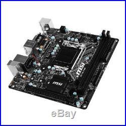 MSI Motherboard H110I PRO Core i7/i5/i3 H110 LGA1151 32GB DDR4 SATA PCI Express