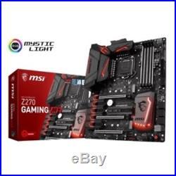 MSI Motherboard Z270 GAMING M7 Core i3/i5/i7 Z270 S1151 DDR4 SATA PCI Express US