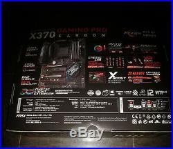 MSI X370 GAMING PRO CARBON AM4 AMD SATA 3 USB 3.1 HDMI ATX AMD Motherboard