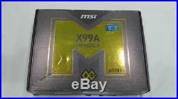 MSI X99A MPOWER Motherboard / LGA2011-v3, 8 DDR4, 10 SATA3, M. 2, 4 PCI-E ATX