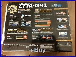 MSI Z77A-G41 Motherboard LGA 1155 Intel Z77 SATA 6Gb/s USB 3.0 ATX UEFI