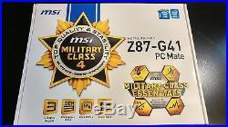 MSI Z87-G41 PC Mate LGA 1150 PCI-e, SATA III, USB 3.0, HDMI Intel-CPU Motherboard