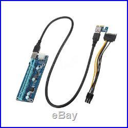 Mining Motherboard + 6pcs PCI-E Extender Riser Card For BTC Eth Rig Ethereum H81