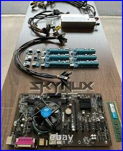 Mining Rig Kit Asrock H81 Pro BTC MB with CPU, RAM, PSU, Cables, Risers