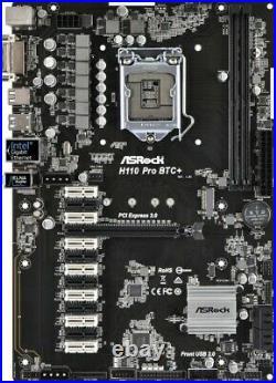Motherboard Mainboard ASRock H110 Pro BTC+ Intel H110 CPU So. 1151 ATX Mining