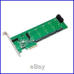 Mouse Pad BundleDeal PCI-e x4 slot Card, up to 4 SATA III HD, 4-Port, mSATA SSD