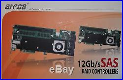 NEW Areca ARC-1883ix-24-SA 12G SAS 28-port RAID controller PCI-Express 3.0 x8