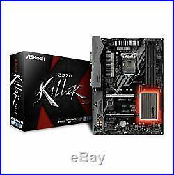 NEW! Asrock Z370 KILLER SLI Intel Z370 1151 Atx 4 Ddr4 Xfire/Sli Dvi Hdmi Rgb Li