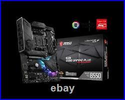 NEW MSI MPG B550 GAMING PLUS ATX Motherboard AM4 AMD M. 2 Gen 4 PCI-e 4.0