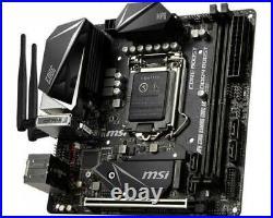 NEW MSI MPG Z390I GAMING EDGE AC DDR4 LGA 1151 Intel Z390 Mini-ITX Motherboard