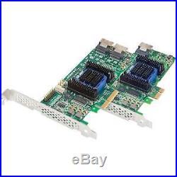 NEW! Microsemi Adaptec Sas Controller 6Gb/S Sas Pci Express 2.0 X1 Plug-In Card