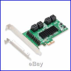 NEW SI PEX40071 SATA III 8 Port PCI E 2.0 Controller Card Green Designed PREMIUM